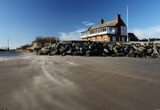 Wind Geveegd Strand, Norfolk, Engeland stock fotografie