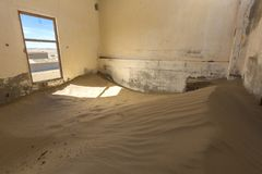Wind geveegd zand in ruimte royalty-vrije stock fotografie