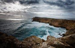 Wind geveegde klippen Australië Royalty-vrije Stock Foto