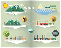 Wind graphic Royalty Free Stock Photo