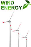 Wind groene energie Stock Foto