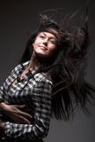 Wind in hair Stock Image