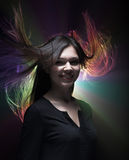Wind in hair stock photos