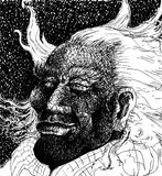 Wind in hair illustration Stock Photos