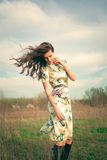 Wind in hair Stock Images
