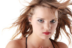 Wind in her hair Stock Photography