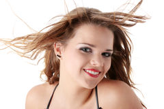 Wind in her hair Royalty Free Stock Images