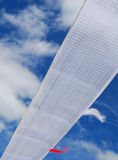Wind-horse flag in Tibet. Wind-horse flags  under the blue sky  in Lhasa, Tibet Stock Photography