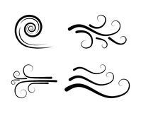Wind icon vector, blow, blast design isolated on white.  royalty free illustration