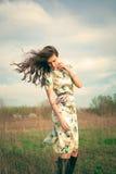 Wind im Haar Stockbilder
