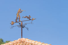 Wind indicator on roof Royalty Free Stock Photo