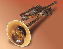 Wind instrument - the Pipe,. Orchestral, solo. The jazz royalty free illustration