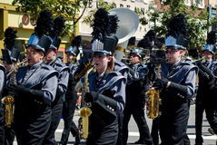 Marching band wind instruments Royalty Free Stock Image