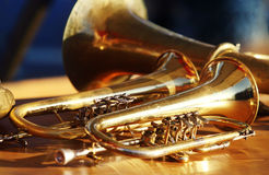 Wind instruments Stock Photography