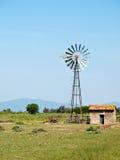 Wind irrigation water pump Stock Image