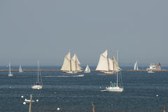 Wind Jammer Sailboats in Rockland Harbor Royalty Free Stock Photos