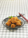 Wind Japanese-style fried chicken pieces Royalty Free Stock Photos