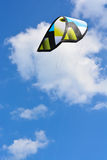 Wind kite on a blue sky Royalty Free Stock Photography