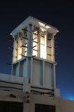 Wind-Kontrollturm in Dubai Stockfotografie