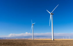 Wind-macht- saubere Energie Lizenzfreie Stockfotografie