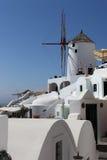 Wind mal, Oia, Santorini, Grekland Arkivfoto