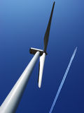 Wind mill 1. One of 10 windmills of this power plant royalty free stock photo