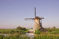 Wind mill. One of the windmills of Kinderdijk in the Netherlands Royalty Free Stock Photos