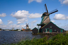Wind mill. Netherlands wind mill by the lake stock image