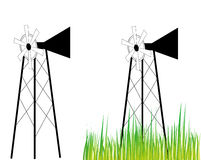 Wind mill. An illustration of wind mill on white Royalty Free Stock Photography