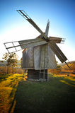 Wind Mill. In nature with blue sky Royalty Free Stock Photo