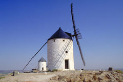 Wind mill. White wind mill Royalty Free Stock Photo