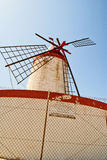 Wind mill. In a saltern of trapani Stock Photography