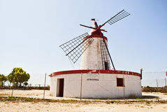 Wind mill. In a saltern of trapani Royalty Free Stock Photography