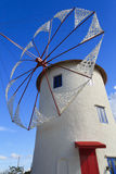 Wind mill. A wind mill in a farm Royalty Free Stock Photography