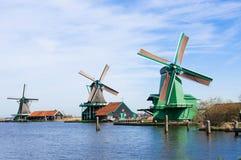 Wind mill. Of Zaanse Schans, Netherland Stock Photos