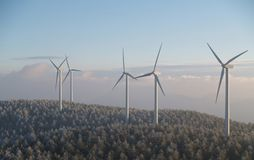 Wind Mill. Farm royalty free stock photo