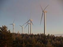 Wind mill. Farm royalty free stock photos