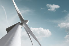 Wind mill against smooth sky Royalty Free Stock Photo