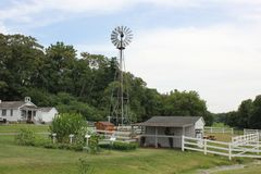 Wind mill at. Amish Village Royalty Free Stock Photography