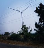 Wind Mill, Andhra Pradesh. Wind mill andhra pradesh fields stock photography