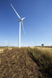 Wind mill  in autumn farm land Stock Photography