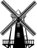 Wind Mill B/W Vector Royalty Free Stock Photography