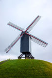 Wind mill in Bruges Royalty Free Stock Photography