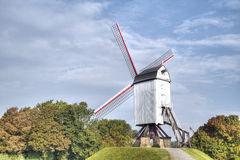 Wind mill  in Bruges, Belgium Stock Photography