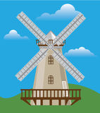 Wind Mill in Color Royalty Free Stock Image