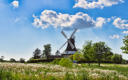 Wind mill in Egeskov, fyn, Denmark Royalty Free Stock Photography
