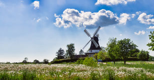 Wind mill in Egeskov, fyn, Denmark Royalty Free Stock Photo