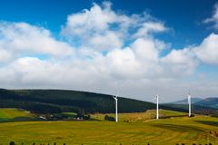 Wind-mill electric generating plants Stock Images