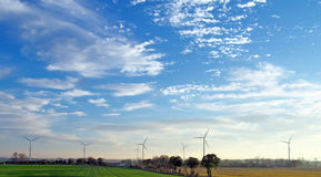 Wind mill farm Royalty Free Stock Photos