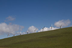 Wind Mill Farms in Northern California royalty free stock photo